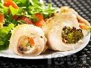 Рецепта Пилешки рулца със зеленчукова плънка